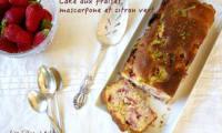 Cake moelleux aux fraises, mascarpone et citron vert