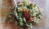 Salade a la courge butternut, quinoa et choux de bruxelles