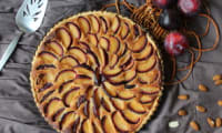 Tarte frangipane aux prunes
