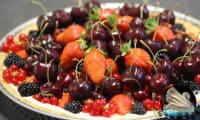 Tarte aux fruits et mascarpone sans cuisson