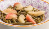 Salade de haricots verts aux pêches