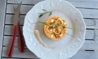 Médaillon fraîcheur au quinoa, thon et sa mousse de carottes coco curry
