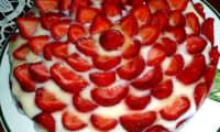Tarte aux fraises et biscuits
