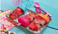 Glace à l'eau aux fruits rouges