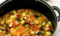 Lentilles cuisinées façon ratatouille