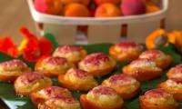 Abricots rôtis amandine