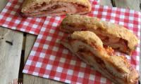 Pain « roulé-fourré » jambon mozzarella