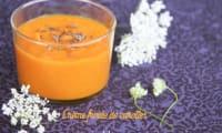 Crème froide de carottes à l'orange et au cumin