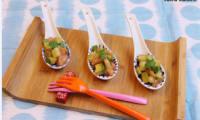 Tartare de saumon frais mariné, concombre et avocat