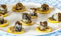 Sardines au pesto sur lit de citron
