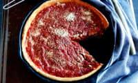 Deep dish pizza de Chicago