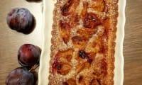 Tarte aux prunes d'après Eric Kayser