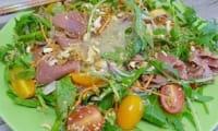 Salade asiatique à l'émincé de boeuf