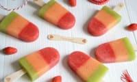 Bâtonnets glacés aux 3 fruits frais