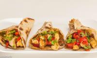 Tortilla au poulet et aux poivrons