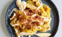 Salade poireaux, pommes, oeufs durs