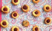 Petits fours, pistache et framboise