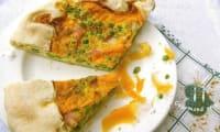 Tarte rustique petits pois, curry, mimolette vieille