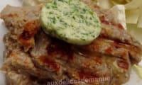 Pavé de veau mariné et son beurre ail et persil au barbecue