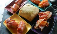 Minis carottes enrobées de jambon fumé