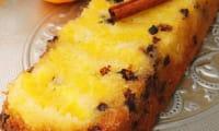Cake à l'orange, cannelle et pépites de chocolat