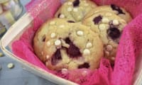 Cookies framboise - chocolat blanc