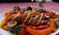 Rôti de dinde au paprika et aux légumes