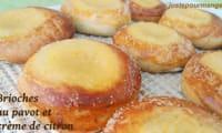 Brioches au pavot et crème de citron