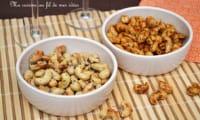 Noix de cajou grillées fleur de sel et thym ou curry et paprika
