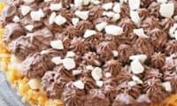 Tarte céréales-poires-chocolat