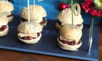 Mini burger au chutney de figue et foie gras