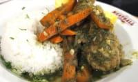 Ragoût de poulet péruvien : secco de pollo