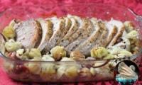 Filet mignon de porc rôti aux marrons
