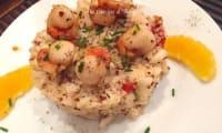 Saint-jacques téquila quinoa pomme verte