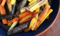 Carottes rôties colorées