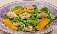 Salade de saint jacques à la mangue