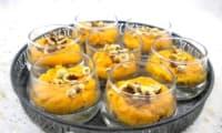 Verrines de parmentier de canard confit aux patates douces