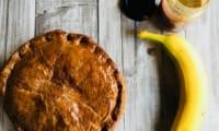 Galette des rois à la banane et au sésame,pâte feuilletée au chocolat
