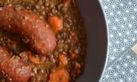 Lentilles au curry et aux saucisses de Montbéliard