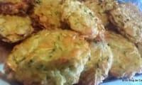 Galettes de courgettes, carottes et beurre de crabe