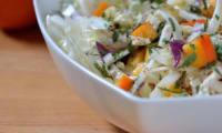 Salade croquante au chou chinois, fenouil et kaki