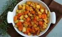 Poêlée de pommes de terre, potimarron et rutabaga au miel