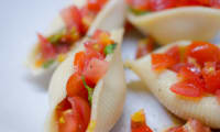 Conchiglioni aux tomates cerises et au basilic