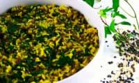 Riz, lentilles et épinards au curry-coco