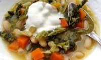 Soupe aux chou et haricots