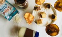 Crêpes-sucettes et pâte à tartiner bicolore praliné et noix de coco