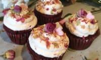 Cupcakes red velvet de la Saint-Valentin