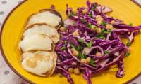 Salade de chou rouge aux pois chiches et à la scamorza