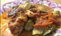 Poulet au four et ses courgettes tomates