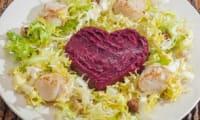 Salade de saint jacques aux betteraves